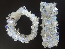 Split armband breed - Opaliet
