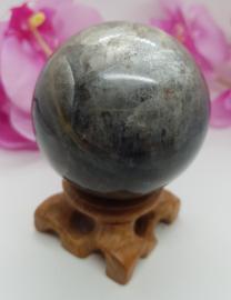 Maansteen zwart bol 55mm