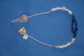 Bergkristal pendel met Lapis Lazuli
