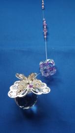 Vlinder zilver met Lila