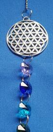 Chakra hanger met octagon kralen + Flower of Life