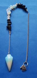 Opaliet pendel met onyx