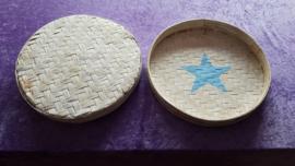 """Oceandrum """"Doe het zelf Bouwpakket"""" ca. 37/38 cm doorsnee met hoge rand (ca.4,5cm) - White Wash"""
