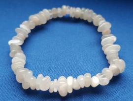 Split armband - Maansteen wit