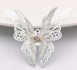 Vlinder sierlijk 2d metaal - klein lang