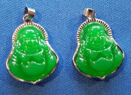 Lachende Boeddha hanger Jade