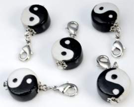 Ying Yang sleutelhanger - Porselein