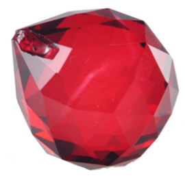 "Kristal raamhanger ""Bol"" 3 cm - Rood"