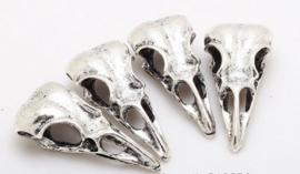 Birdhead skull - zilver