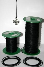 Waxkoord zwart 1mm - ca. 85cm lengte