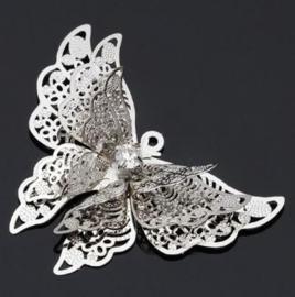 Vlinder sierlijk 2d metaal - klein