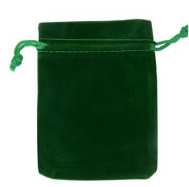 Groen fluwelen zakje groot