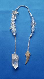 Bergkristal ruwe pendel en kralen