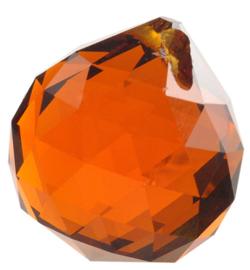 "Kristal raamhanger ""Bol"" 3 cm - Oranje"