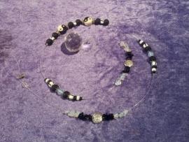 Yin Yang met Onyx & Opaliet Raamhanger