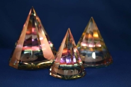Pyramide Ying Yang rond - groot L