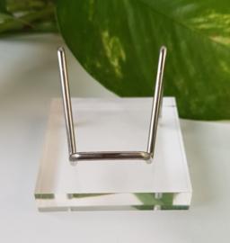 Plexiglas met zilver  standaard