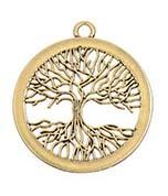 Hanger Levensboom met wortels - goud
