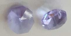 Octagon kraal - violet/lila