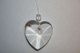 "Kristal raamhanger ""hart"" klein, ca. 3cm"