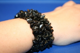 Split armband breed - Onyx