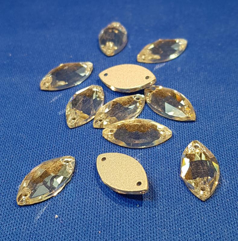 Kristal knoopjes ovaal
