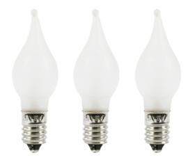 Reservelampjes kerstverlichting vlamkaars mat 12V (set 3)