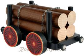 Treinwagon met hout