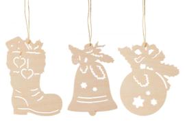 Kerstmotieven I (3) 8cm