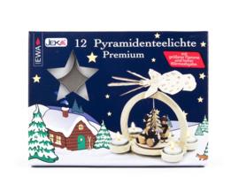 Theelichten Premium voor piramides (12 stuks)