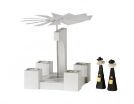 Kerstpiramide modern wit Eiken