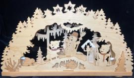 Schwibbogen met sneeuwmannen