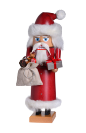 Notenkraker Kerstman met pakje 29cm