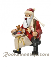 Kerstman  met cadeautjes 16cm