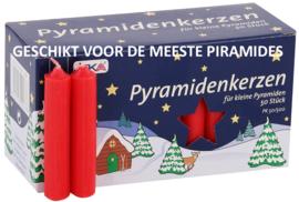 Piramidekaarsen rood 75x14mm (doos 50)