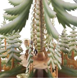 Piramide Dennenboom met reeën
