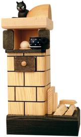 Tegelkachel naturel met hout
