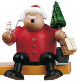 Kerstman met boompje 15cm