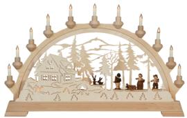 Schwibbogen Boswachtershuis met figuren