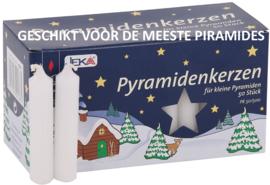 Piramidekaarsen wit 75x14mm (doos 50)