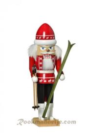 Notenkraker Skiër rood 29cm