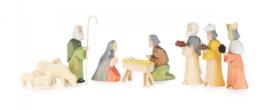 Kerststal figuren gekleurd (11)
