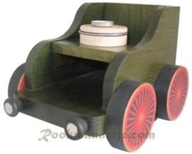 Treinwagon groen