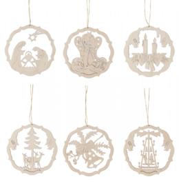 Ring met kerstmotieven (6) 6cm