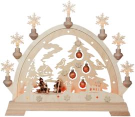 Schwibbogen Dennenboom met kerstballen