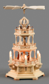Kerstpiramide 3 etages Kerstverhaal elektrisch