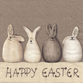 Servetten Happy Easter Bunnies