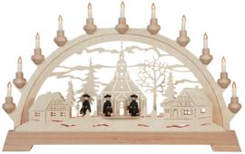 Schwibbogen Kerkje Seiffen met figuren