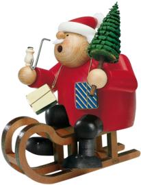 Kerstman op de slee 18cm