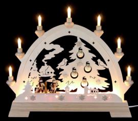 Lichtboog Dennenboom met kerstballen